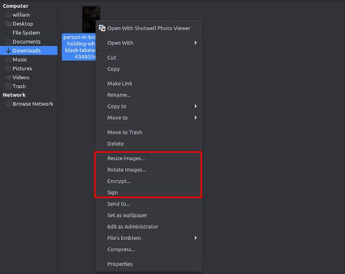Umix Review Caja File Manager Options