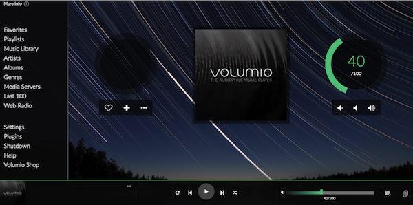 आप Volumio कंसोल के माध्यम से Spotify की संपूर्ण कैटलॉग सहित लाखों गानों तक पहुंच सकते हैं।