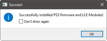 Ps3 On The Pc With Rpcs3 Successful Firmware Installation