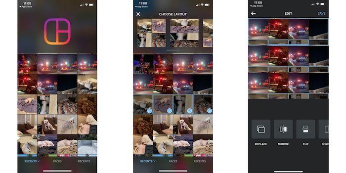 أفضل تطبيقات ملصقة الصور Iphone Layout Instagram