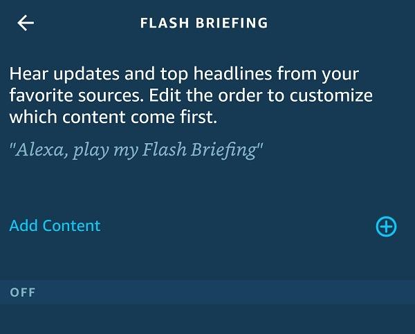 كيفية تخصيص Amazon Alexa Flash Briefing إضافة محتوى