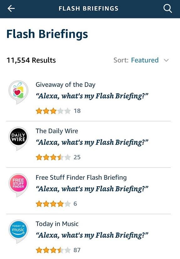 كيفية تخصيص Amazon Alexa Flash Briefing Flash Briefing