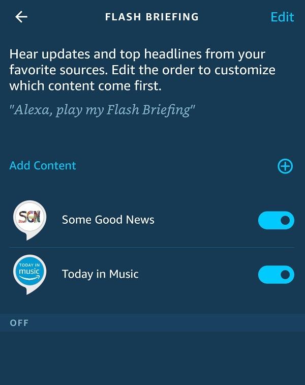 كيفية تخصيص Amazon Alexa Flash Briefing