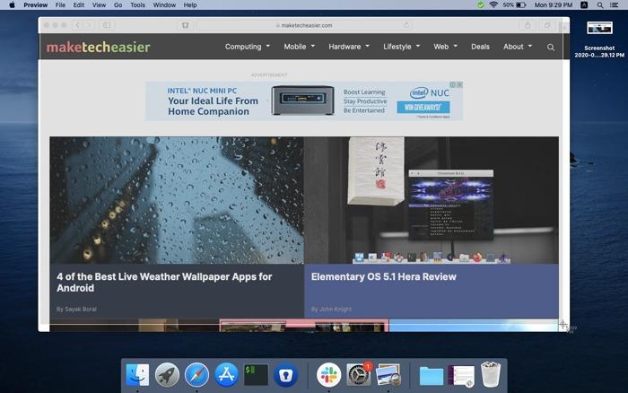 Manual way to take screenshot on macbook