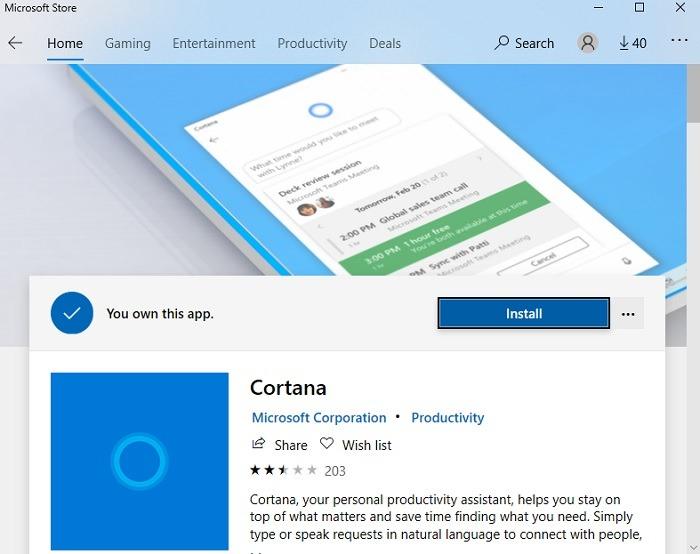 विंडोज मई 2020 के बाद Cortana को कैसे अनइंस्टॉल करें अपडेट ओपन Cortana