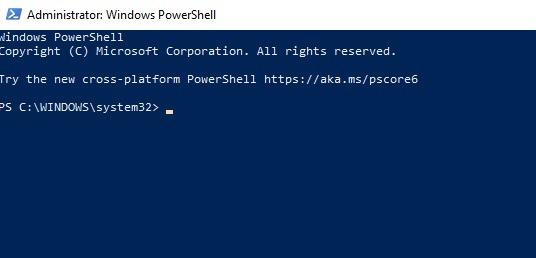 विंडोज मई 2020 के बाद Cortana को कैसे अनइंस्टॉल करें अपडेट पॉवर्सशेल विंडो खोलें