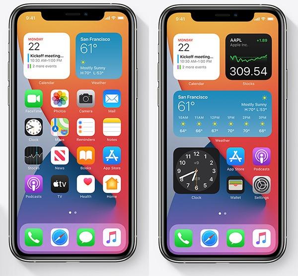 أدوات iOS 14