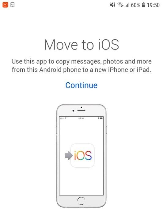 يمكنك نقل جهات الاتصال والوسائط والتطبيقات والرسائل والبيانات الأخرى باستخدام تطبيق Move to iOS.