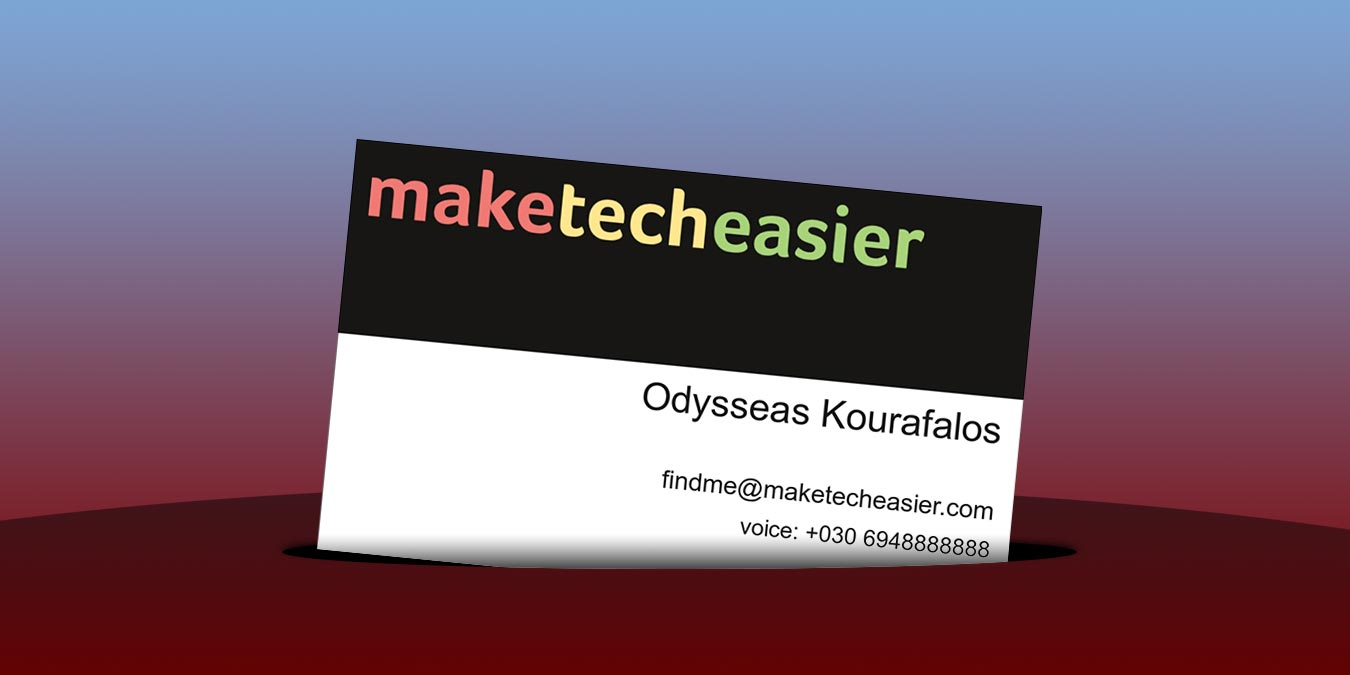 Own Custom Business Card With Scribus