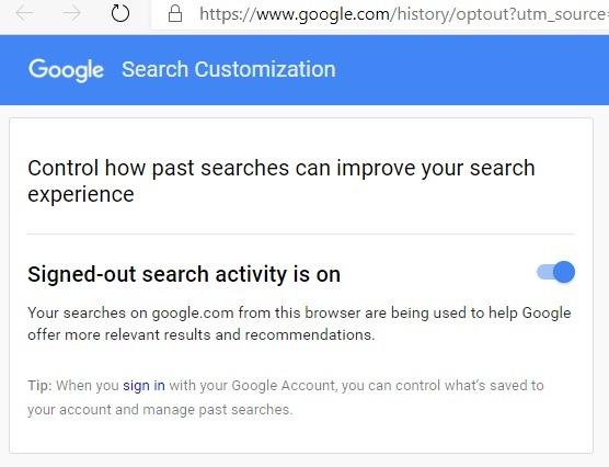 مجهول جوجل تسجيل الخروج بحث في 1