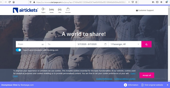 إخفاء هوية صفحة البدء من Google عرض مجهول 1
