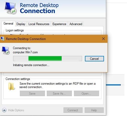 Microsoft Rd कंप्यूटर दूरस्थ कनेक्शन 1