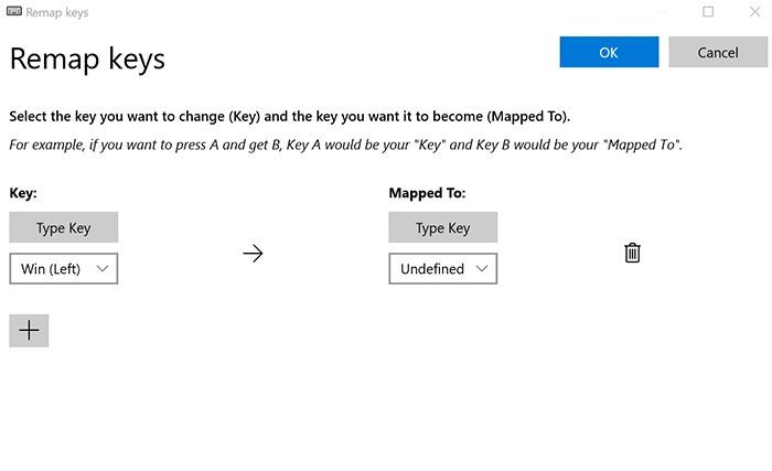 Remap Windows Key Redefine