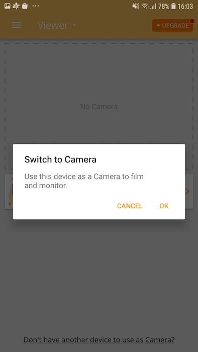 आप किसी भी संगत स्मार्टफोन या टैबलेट को सुरक्षा कैमरे में बदल सकते हैं।