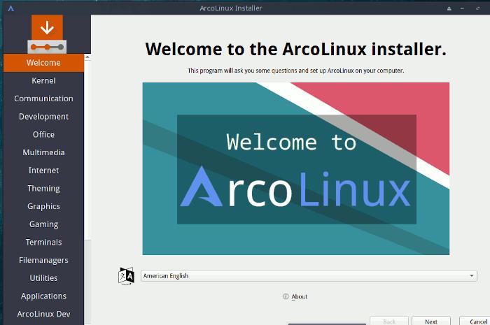 Arcolinux Calamares Installation 1