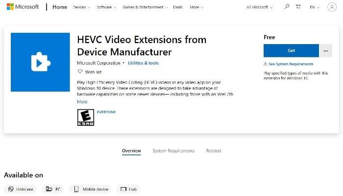 Hevc Extension Developer
