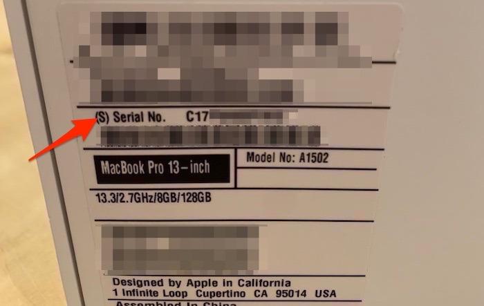 صندوق الرقم التسلسلي لماك بوك من ستة طرق
