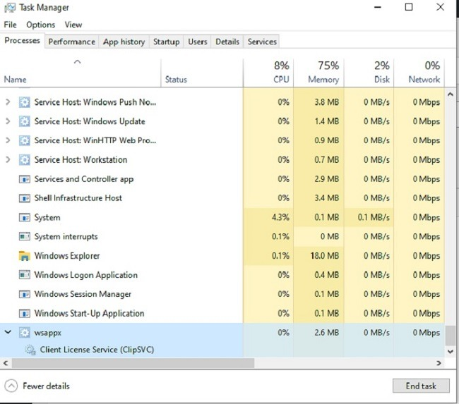 Wsappx High Disk And Cpu Usage Fix It Wsappx