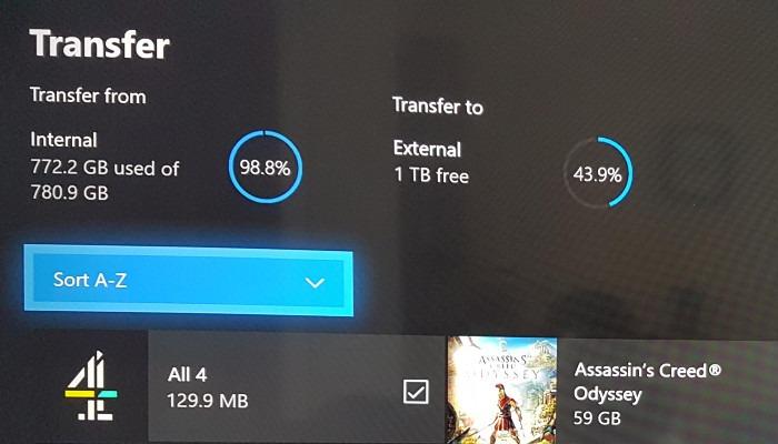 Xbox हस्तांतरण खेल