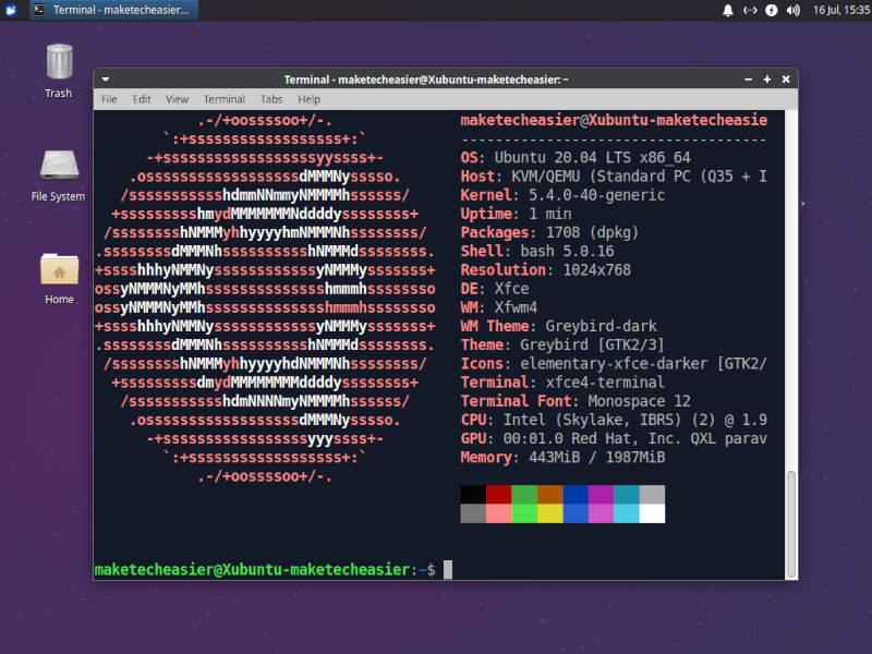Xfce Xubuntu Neofetch