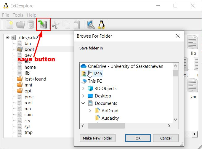 Access Ext4 Windows Ext2read Save