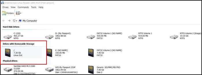 Access Ext4 Windows Linuxreader Main
