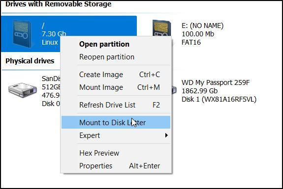 Access Ext4 Windows Linuxreader Mount Partition