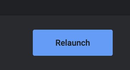 إعادة تشغيل شريط أدوات ملحقات Chrome