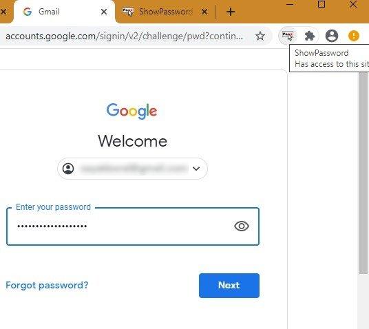Kata Sandi Peramban Dots Kata Sandi Chrome Ditambahkan