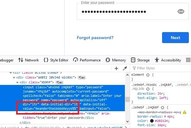 Kata Sandi Peramban Dots Firefox Memeriksa Dilihat