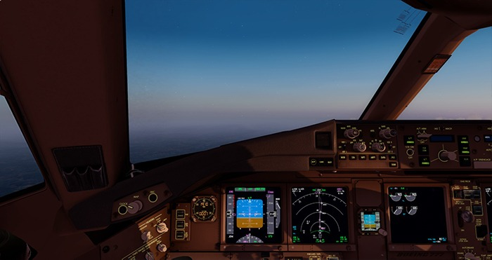 قم بإعداد Flight Simulator 777