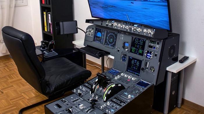 قم بإعداد قمرة القيادة في Airbus Flight Simulator