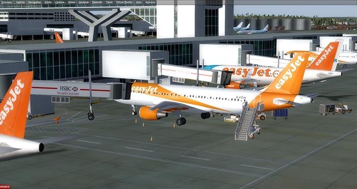إعداد برنامج محاكاة الطيران Easyjet