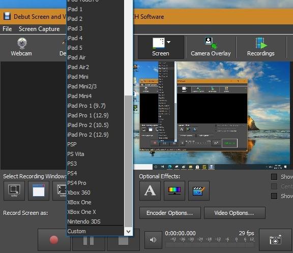 Format Debut Perekam Layar Windows10