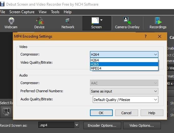 Encoder Perekam Layar Windows10