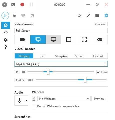 Widget Pro Perekam Layar Windows10