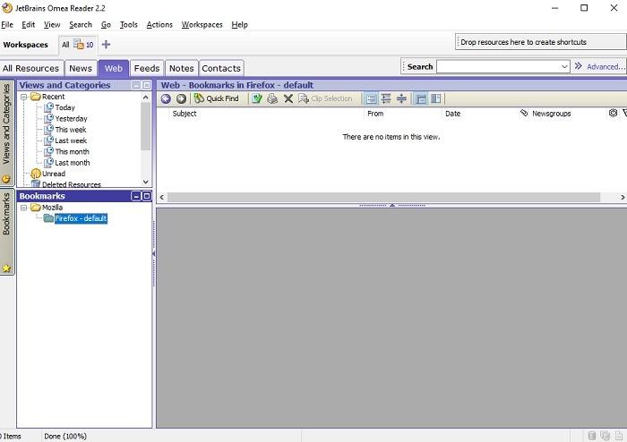 أفضل قارئ Rss لنظام التشغيل Windows Omea