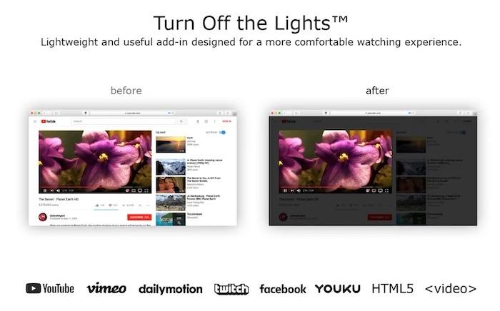सर्वश्रेष्ठ सफारी एक्सटेंशन लाइट बंद करें