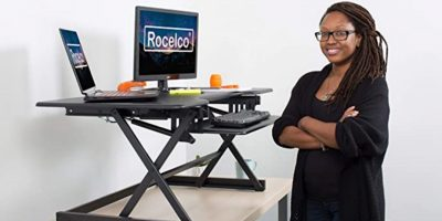 Deal Rocelco Standing Desk Converter Featured2