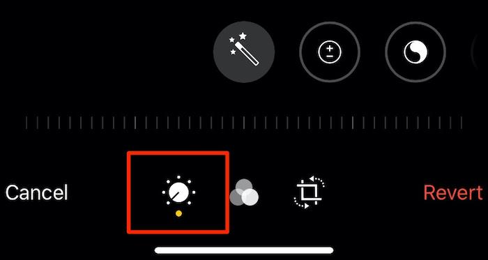 تحرير تعديلات ضوء الكاميرا صور Iphone