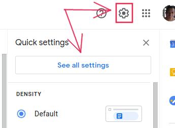 أيقونة إعدادات Gmail