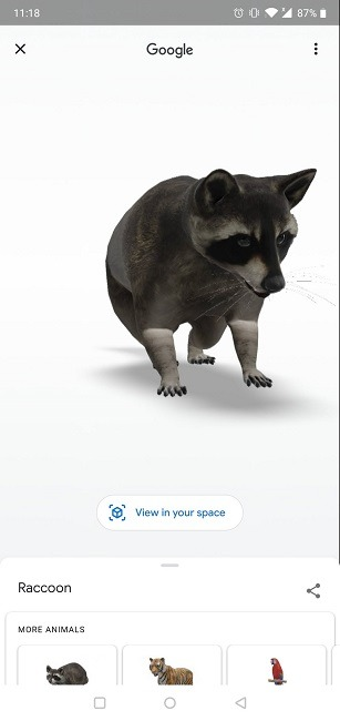 Google 3D ऑब्जेक्ट ऑब्जेक्ट को कैसे देखें