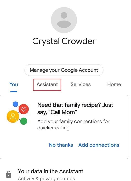 Google सहायक परिवार बेल सुविधा सहायक टैब का उपयोग कैसे करें