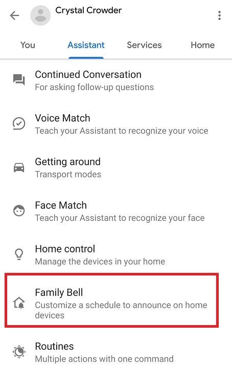 Google सहायक पारिवारिक बेल फ़ीचर फ़ैमिली बेल का उपयोग कैसे करें