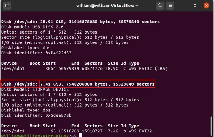 Install Arch Linux Rpi List Partitions 1