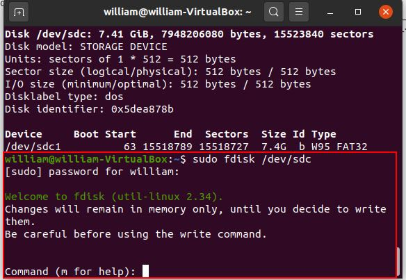 Install Arch Linux Rpi Partition Start