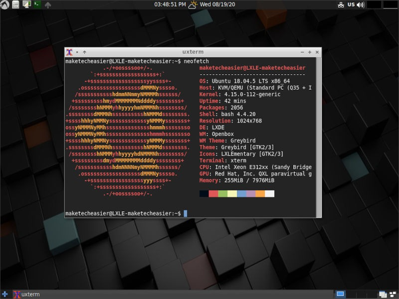 Lxde Lxle Neofetch