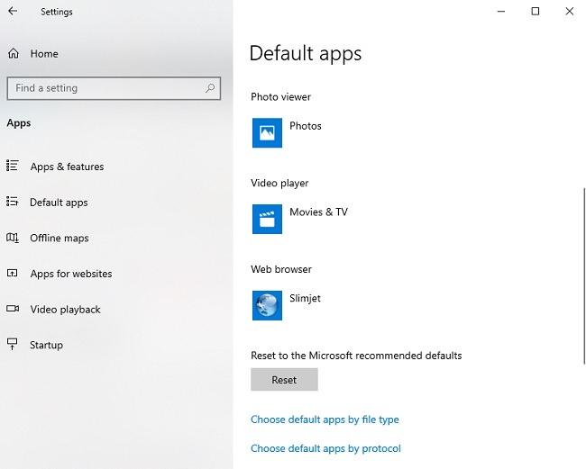विंडोज 10 अपडेट चेकलिस्ट डिफ़ॉल्ट ऐप्स