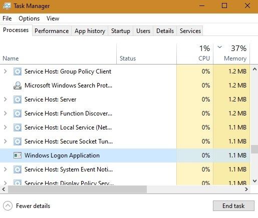 Keyloggers يقوم Windows بمعالجة إدارة المهام