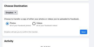 Transfer Facebook Photos Videos Cover